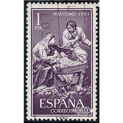 1961 Spanien 1295 Weihnachten Weihnachten © Gebrauchte, Zustand  (Michel)
