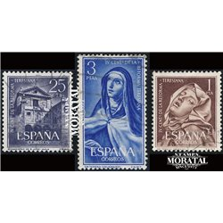 1962 Spain 1105/1107  Teresiana Painting © Used, Nice  (Scott)