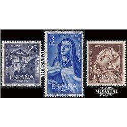 1962 Spanien 1314/1316  Teresiana Gemälde © Gebrauchte, Zustand  (Michel)