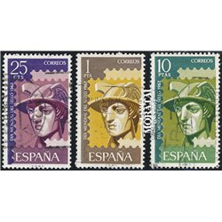 1962 Spain 1108/1110  Day of the stamp Philately © Used, Nice  (Scott)