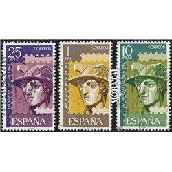 1962 Spanien 1318/1320  Tag der Briefmarke Philatelie © Gebrauchte, Zustand  (Michel)