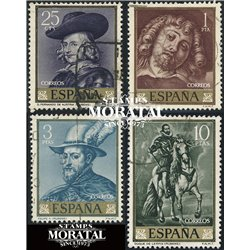 1962 Spain 1111/1114  Rubens Painting © Used, Nice  (Scott)