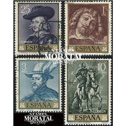 1962 Spanien 1322/1325  Rubens Gemälde © Gebrauchte, Zustand  (Michel)