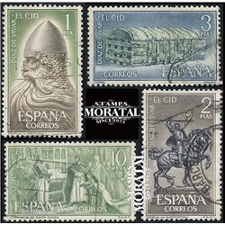 1962 Spain 1121/1124  The Cid  © Used, Nice  (Scott)
