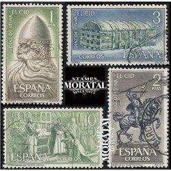 1962 Spanien 1334/1337  Das Cid  © Gebrauchte, Zustand  (Michel)