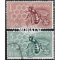 1962 Spain 1125/1126  Europe Europe © Used, Nice  (Scott)