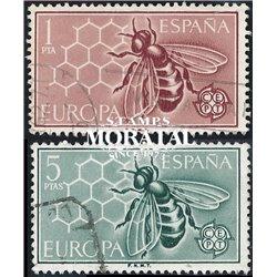 1962 Spanien 1340/1341  Europa Europa © Gebrauchte, Zustand  (Michel)
