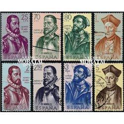 1962 Spanien 1346/1353  Entdecker Persönlichkeiten © Gebrauchte, Zustand  (Michel)