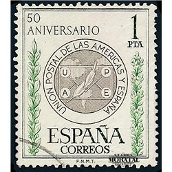 1962 Spain 1139 U.P.A.E.P. Organizations © Used, Nice  (Scott)