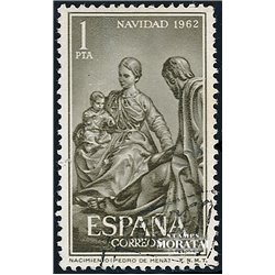 1962 Spain 1151 Christmas Christmas © Used, Nice  (Scott)