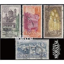 1963 Spanien 1379/1382  Maria Poblet Kloster-Tourismus © Gebrauchte, Zustand  (Michel)