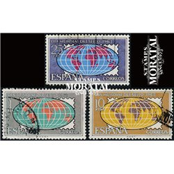 1963 Spanien 1396/1398  Tag der Briefmarke Philatelie © Gebrauchte, Zustand  (Michel)