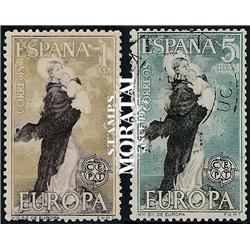 1963 Spanien 1411/1412  Europa Europa © Gebrauchte, Zustand  (Michel)