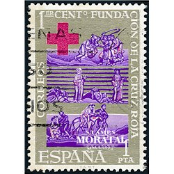 1963 Spain 1195 Red Cross Charity © Used, Nice  (Scott)