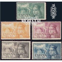 1951 Spanien 998/1002  Isabel Luft Könige ** Perfekter Zustand  (Michel)
