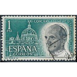 1963 Spanien 1435 Vatikan II Religiös © Gebrauchte, Zustand  (Michel)