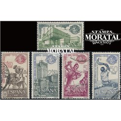 1964 Spain 1239/1243  New York  © Used, Nice  (Scott)