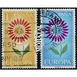 1964 Spanien 1501/1502  Europa Europa © Gebrauchte, Zustand  (Michel)