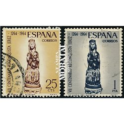 1964 Spain 1264/1265  Alcazar  © Used, Nice  (Scott)