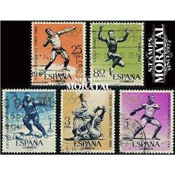 1964 Spanien 1506/1510  J.J.O.O. InnsBruck und Tokio Sport © Gebrauchte, Zustand  (Michel)