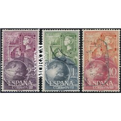 1964 Spanien 1476/1478  Tag der Briefmarke Philatelie © Gebrauchte, Zustand  (Michel)
