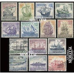 1964 Spanien 1483/1496  Marine Boote © Gebrauchte, Zustand  (Michel)