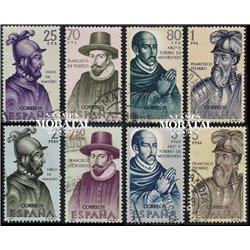 1964 Spanien 1511/1518  Entdecker Persönlichkeiten © Gebrauchte, Zustand  (Michel)