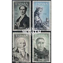 1965 Spain 1292/1295  Personalities Personalities © Used, Nice  (Scott)