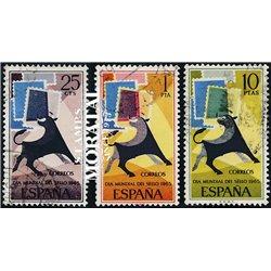 1965 Spanien 1548/1550  Tag der Briefmarke Philatelie © Gebrauchte, Zustand  (Michel)