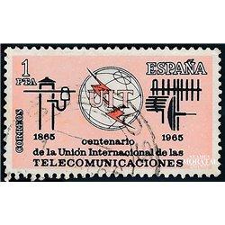 1965 Spanien 1551 U.I.T. Amtlichen Stellen © Gebrauchte, Zustand  (Michel)
