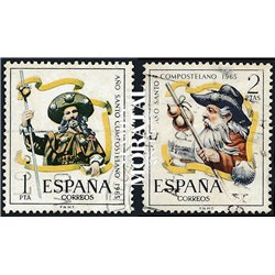 1965 Spain 1310/1311  Compostela Tourism © Used, Nice  (Scott)