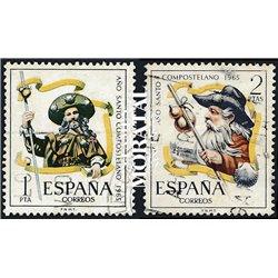 1965 Spanien 1557/1558  Compostela Tourismus © Gebrauchte, Zustand  (Michel)