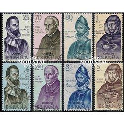 1965 Spanien 1568/1575  Entdecker Persönlichkeiten © Gebrauchte, Zustand  (Michel)