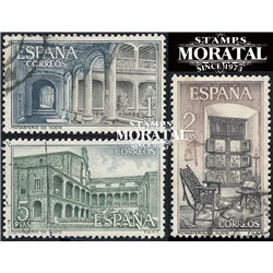 1965 Spain 1324/1326  Yuste Monastery-Tourism © Used, Nice  (Scott)