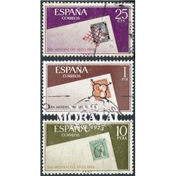 1966 Spain 1350/1352  Day of the stamp Philately © Used, Nice  (Scott)