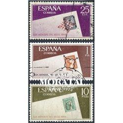 1966 Spanien 1613/1615  Tag der Briefmarke Philatelie © Gebrauchte, Zustand  (Michel)