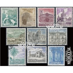 1966 Spain 1353/1362  Tourist  III Tourism © Used, Nice  (Scott)