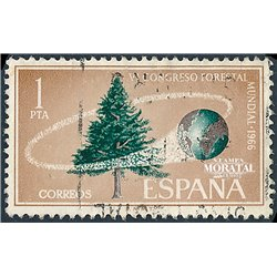 1966 Spain 1363 Forest Flora © Used, Nice  (Scott)