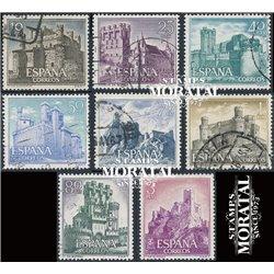 1966 Spain 1365/1372  Castles I Castles © Used, Nice  (Scott)
