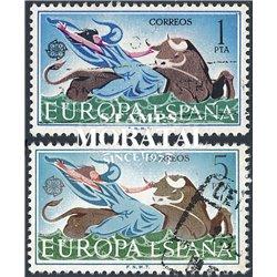1966 Spanien 1642/1643  Europa Europa © Gebrauchte, Zustand  (Michel)