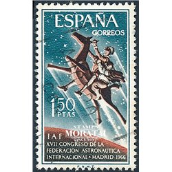 1966 Spain 1376 Astronautics Planes © Used, Nice  (Scott)
