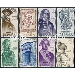 1966 Spain 1377/1384  Discoverers Personalities © Used, Nice  (Scott)