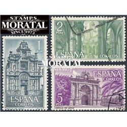 1966 Spanien 1656/1658  Cartuja Kloster-Tourismus © Gebrauchte, Zustand  (Michel)