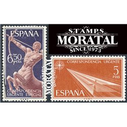 1966 Spain E24/25  Allegories  © Used, Nice  (Scott)