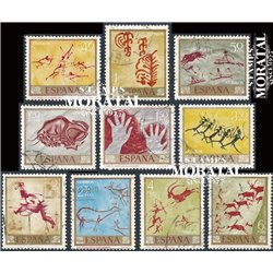 1967 Spain 1449/1458  Cave Painting Painting © Used, Nice  (Scott)