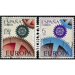 1967 Spanien 1682/1683  Europa Europa © Gebrauchte, Zustand  (Michel)