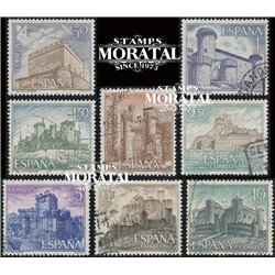 1967 Spain 1479/1486  Castles II Castles © Used, Nice  (Scott)