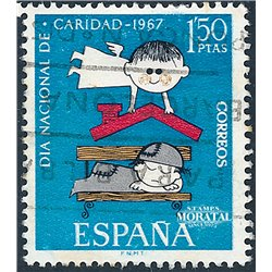 1967 Spain 1471 Charity Charity © Used, Nice  (Scott)