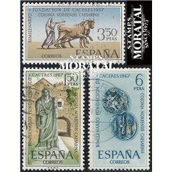 1967 Spanien 1720/1722  Caceres  © Gebrauchte, Zustand  (Michel)