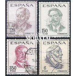1967 Spanien 1724/1727  Persönlichkeiten Persönlichkeiten © Gebrauchte, Zustand  (Michel)